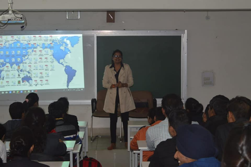 pooja pandey guest lecture, business school, direct admission, jobs after mba