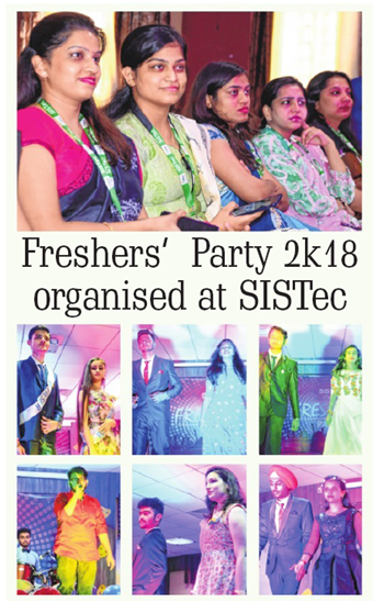 freshers party 2018 organised at sistec, post graduation, colleges in mp